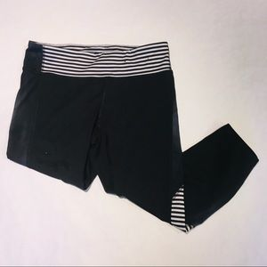 Champion Cropped Leggings with Striped Panels L